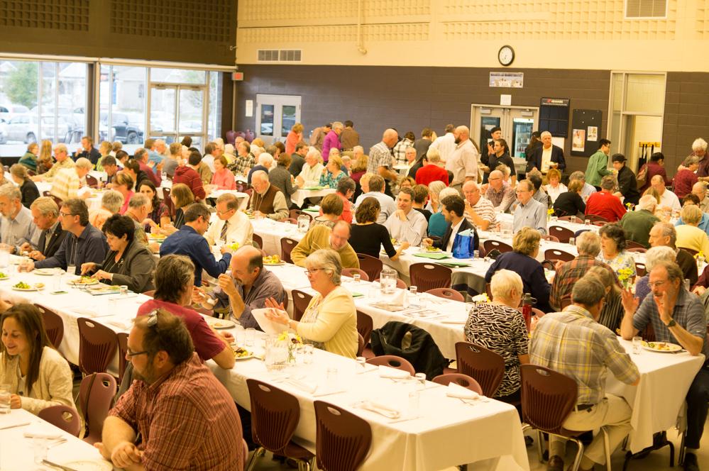 MSE Participants enjoying a buffet dinner