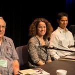 Daniel Simberloff, Elena Bennett, Kai Chan and Robert Sandford during the panel session