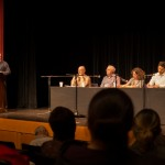 Paul Kennedy moderates the panel session