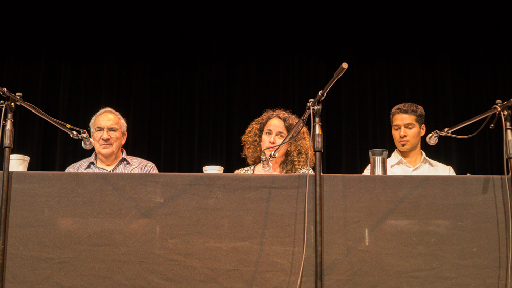 Daniel Simberloff, Elena Bennett and Kai Chan and during the panel session